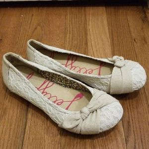 Jellypop Success Ballet Flats White Lace